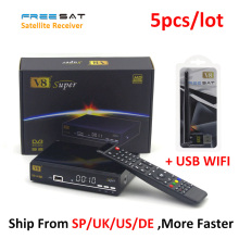 Digital TV Satellite Receiver Freesat V8 Super DVB Tuner Support Newcamd Cccamd Ccam DVB-S2 HD FTA Freesat V8 Receiver +USB WIFI