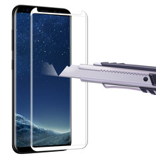 Buy 3D Curved Full Cover Tempered Glass Screen Protector Samsung Galaxy S8 S8 Plus Explosion-proof Protective Glass Film for $1.16 in AliExpress store