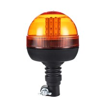 NEW LED Rotating Flashing Amber Beacon Flexible Tractor Warning Light 12V-24V Roadway Safety(China)