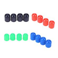 100pcs Fashion Plasic Dust Covers Universal Car Truck Bike Tyre Tire Wheel Valve Stem Caps Car Accessories 4 Colors(China)