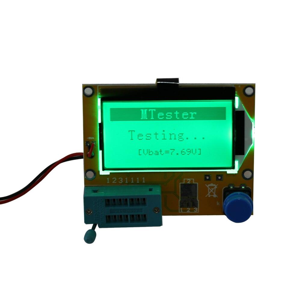 2X LCR T4 ESR Combo Digital Transistor Tester Diode Triode Capacitance indutor resistor MOS/PNP/NPN + Teste clipe 8