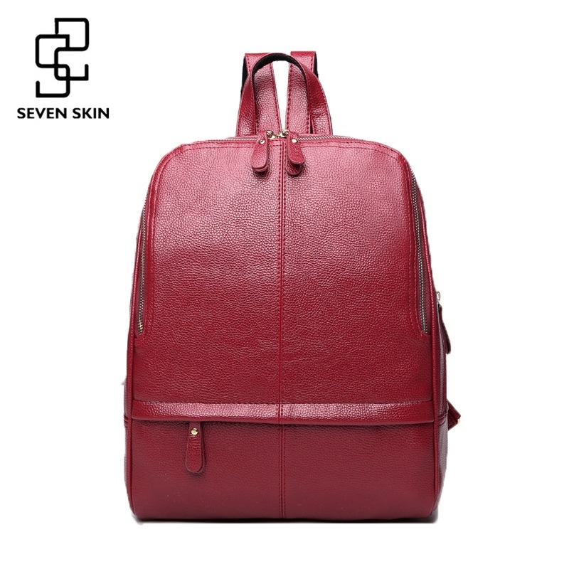 SEVEN SKIN Brand 2017 Women Backpack High Quality PU Leather School Bags for Teenager mochila escolar Girls Top-handle Backpacks<br>
