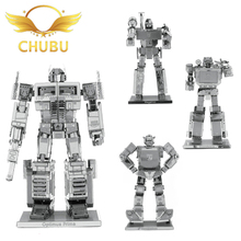 3D Metal Puzzle Transformer Robot Set Stainless Steel Adult Assembly Model Jigsaw Children's Educational Toys(China)
