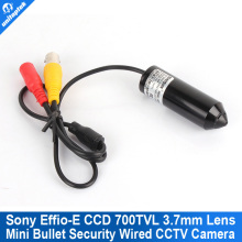 "1/3"" Sony Effio-E 700TVL Mini Camera CCD 3.7mm Lens Color CCTV Mini Security Camera Small Wired Bullet Camera For 960H/D1 DVR"