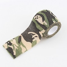 Roll Concealment Stretchy Bandage Camping Hunting Camo Tape Camouflage Gun Cloths Tactical Disguise for Outdoor Home Use 4.5m(China)