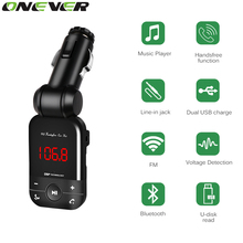 Onever Wireless Bluetooth FM Transmitter Aux Modulator Handsfree Car Kit MP3 Player With USB Car Charger Support Flash Drive TF