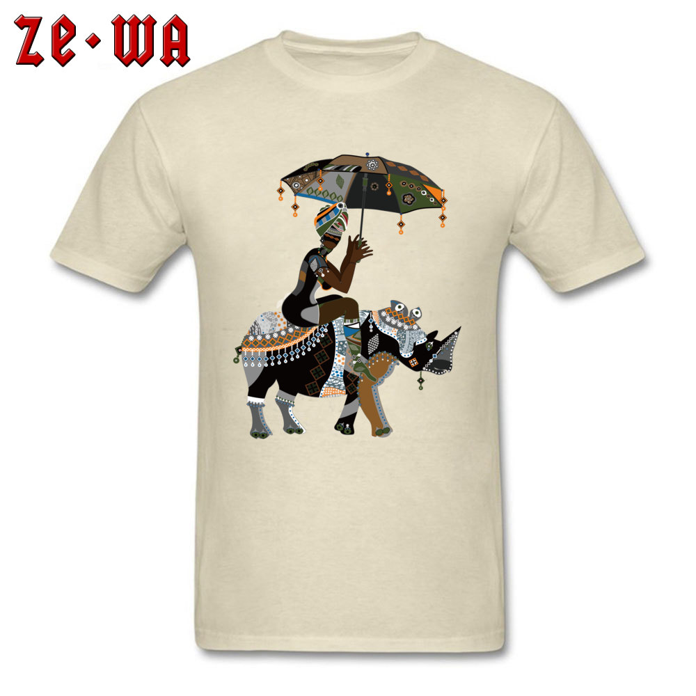 Fitted african art drawing african people T Shirts Crewneck 100% Cotton Men Tops T Shirt Short Sleeve Summer/Fall Tops Shirts african art drawing african people beige