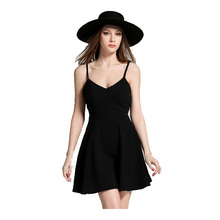 It's YiiYa New Real Photo Quality Black White Strapless Simple Cocktail Dresses Sex Mini Party Dress with Lace Wings L341(China)