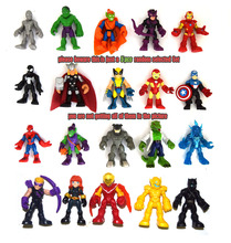 Lot of 5 Random Marvel Adventures Avengers Thor Ironman Spiderman Enemies Figure(China)