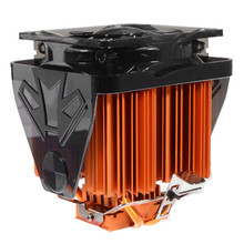 2017 Powerful 100x100x135mm 4 Copper Heat Pipe CPU Cooler Fan for Desktops Computer Adopts Hydraulic Structure Ultra Quiet Fan