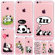 Buy Cute Cartoon Animal Husky Dog Panda Case Iphone 6 6S 7 SE 5 5S 6Plus 7Plus 4 4S Transparent Silicone Phone Back Cover Coque for $1.23 in AliExpress store