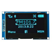 "Tracking number IIC I2C SPI Serial 2.42"" 12864 OLED Display ScreenModule SSD1309 FOR C51 STM32 BLUE color"