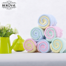 New 2017 Hand Towel -- 12pc/Lot Bamboo Towel Baby Face Cloth Plain Dyed Children Bibs Soft Towels bathroom Brand Towel 25*25cm