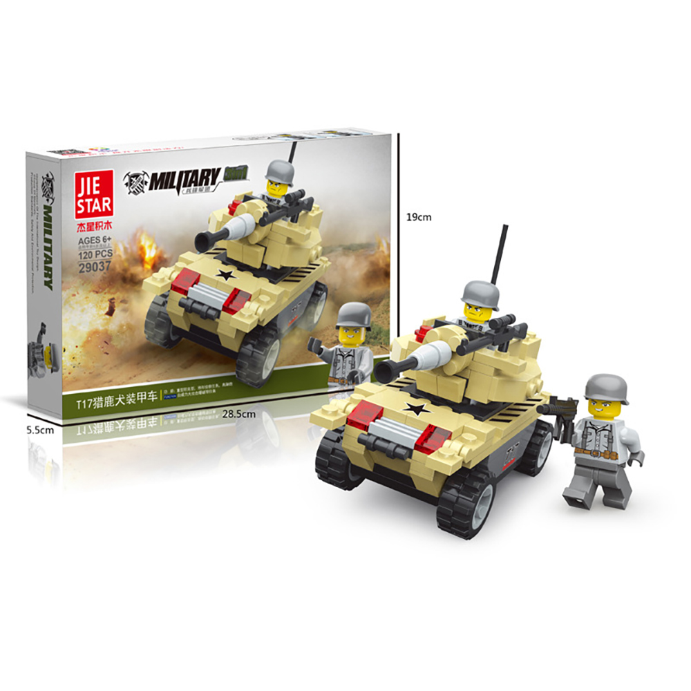 JIE STAR Puzzle building blocks T17 deerhounds armored vehicles Anti Terror military early childhood enlightenment toys 29037(China (Mainland))