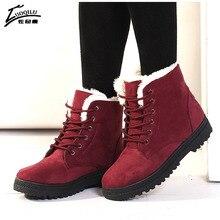 Botas Mujer Women Boots Suede Snow Winter Boots Women Warm Ankle Boots Winter Shoes Warm Fur Plush bota feminina