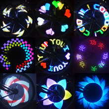 New Colorful Rainbow 32 LED Motorcycle Cycling Bicycle Bike Wheel Signal Tire Spoke Light 30 Changes Led Bicicleta