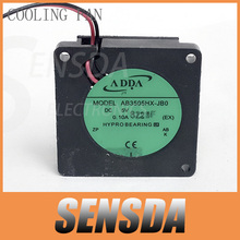 Free Shipping Mini Micro ADDA AB3505HX-JB0 35mm 5V 0.1A 2Wire cpu cooling fans