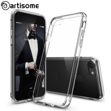 Artisome Cover For iPhone 7 7 Plus Case Fusion Crystal Clear Back Panel Side Silicone Case For iPhone 7 Plus Phone Cover Coque(China)