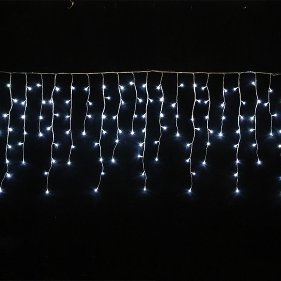 LED Curtain Icicle String Fairy Light 3-24M LED Christmas Garland Indoor Outdoor Party Garden Stage Decorative Lights 110V 220V (19)