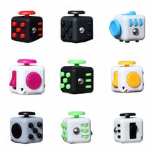 9 Colors Mini Small Cube Fidget Cube Desk Toy Fidget Cube Anti Irritability Toy Magic Cobe Funny Christmas Toys for Children(China)