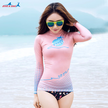 Wholesale Female Diving Suit Sunscreen Waterproof Fast Dry Long Sleeved Swimsuit UPF50+ Multicolor Optional(China)