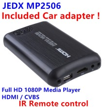 "JEDX Full HD 1080p MKV 2.5""HDD HDMI Media Player Center USB OTG SD AV TV AVI RMVB Free Car adapter AV Cable and Free shipping!(Hong Kong)"