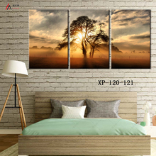 triptych home decoration art prints on canvas scenery canvas painting on beautiful woods HD Print Free Shipping poster images