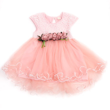 Summer Sleeveless Floral Baby Girls Dresses Toddler Kids Party Princess Wedding Tutu Dress Sweet Baby Girls Clothes 0-3Y(China)