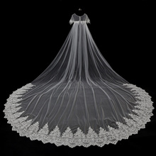 2017 New Arrival Long Wraps Women Bolero Lace Appliques Bridal Shawl White Wedding Shawl Cloak Weddding Accessories Real Photo