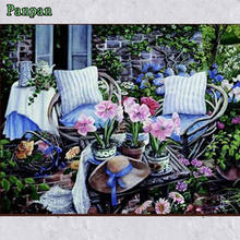 DIY Digital oil painting Coloring by numbers Impressionist Decorative Pictures Cheap modern paintings Cozy courtyard Unique Gift