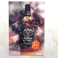 JACK DANIEL'S OLD TIME! Whiskey! signs vintage metal tin plate retro iron painting wall decoration for bar cafe club restaurant