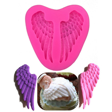 Angel Wings Cooking Chocolate Wedding Decoration Silicone Mold Baking Fondant Sugar Process Kitchen Baking DIY Cake Moulds