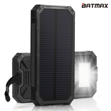 Solar Charger LED Lamp Solar Power Bank 15000mAh Rechargeable External Solar Battery Support Solar Charging for Smart Phones(China)