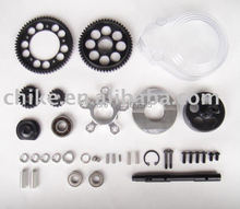Free Shipping - CNC 2 speed system with plastic gear cover for 1/5 hpi km rv baja 5b 5t