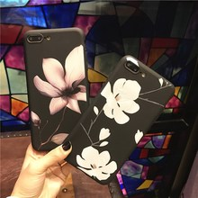 AiYvZ Cute Flower Patterned TPU back Case for Apple iPhone 6 7 s 6s Plus Phone Cases 4.7 5.5 inch Brand Cover Russia USA BY PL(China)