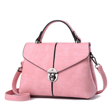 New arriving!2017 High Quality comfortable PU Women Top-Handle handbags Fashion lock catch bag female Shoulder Bag Women Bag