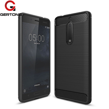 Newest Environmental Carbon Fiber Silicone Case For Nokia 5 3 Phone Cases Cover 5.2 inch Anti-drop For Nokia 6 Back Cover capa(China)