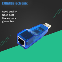 USB 2.0 To LAN RJ45 Ethernet 10/100Mbps Network Card Adapter For Win7 Win8 Android Tablet PC Blue Wholesale