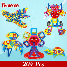 TUMAMA New 204pcs Mini Magnetic Blocks Educational Construction Set Models & Building Toy ABS Magnet Designer Kids Gift