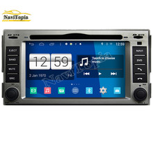 NAVITOPIA Car Radio 800*480 Quad Core 16G 6.2'' WIFI Android Car Multimedia DVD Player for Hyundai Santa fe GPS Navigation