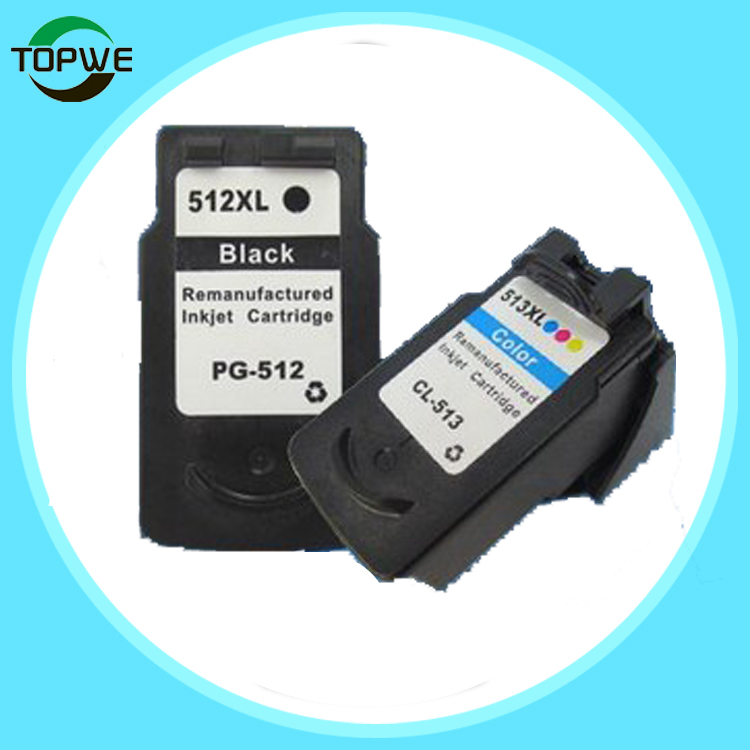 Remanufactured ink cartridge for CANON PG512 CL513 use in PIXMA MP150 IP1800 IP2200 IP6220D IP6210D<br>