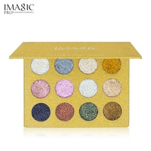IMAGIC 12 Colors Pro Women Eye Makeup Palette Glitters Eyeshadow Palette Natural Long Lasting Eye Shadow Beauty Cosmetic Tool(China)