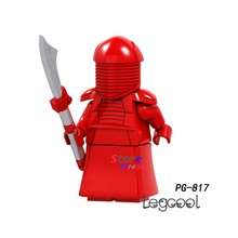 1PCS model building blocks action figures starwars superheroes Red Royal guard Christmas hobby girls diy toys for children gift(China)