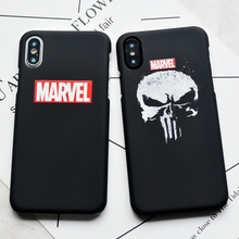 Cartoon Game The Punisher Skull Hard Case For iPhone X 7 8 Plus Phone Cover For iphone 5s SE 6 6s Plus Case funda coque(China)