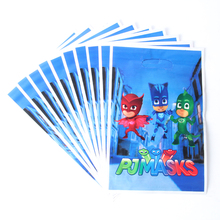 20pcs/lot PJ Mask Theme Party Gift Bag Party Decoration Plastic Candy Bag Loot Bag For Kids Festival Party Supplies
