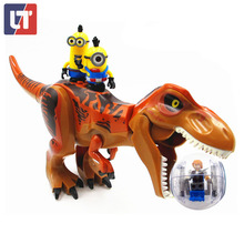 2017 NEW Dinosaur&Minions&Spin Ball FUNLOCK Jurassic World Park 4 Tyrannosaurus Blocks Brick Indominus Rex Compatible With Legoe