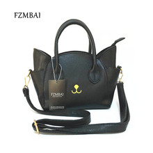 FZMBAI Chic Cat Bags Cute Woman Wing Handbags Fashion PU Messenger Bags
