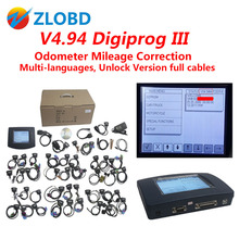 FTDI 2017 Top DHL free v4.94 digiprog iii odometer correction Digiprog 3 mileage correction tool Programmer Full V4.94 Digiprog3(China)