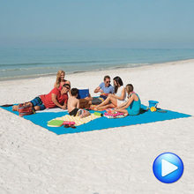 Beach Mat Sand Picnic Blanket - Sand Dirt & Dust Disapper Fast Dry, Easy To Clean Perfect For The Beach,Camping Sand-free Mat