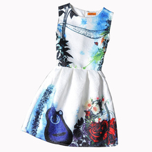Family Matching Outfits Girls Dress New Style Sleeveless Printed Kids Dresses Mother and Daughter Party Princess Christmas Dress(China)
